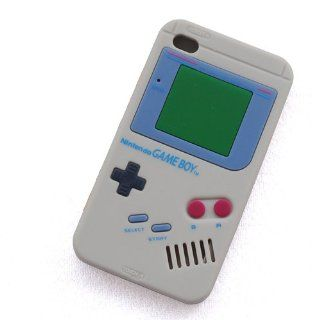 Huaqiang3c NEW Grey Nintendo Game Boy Silicone Soft Case Cover Skin for Apple iPod Touch 4 4th Gen Generation   Players & Accessories