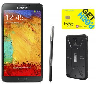 Samsung Galaxy Note 3 Unlocked Phone, SIM Card& Case —