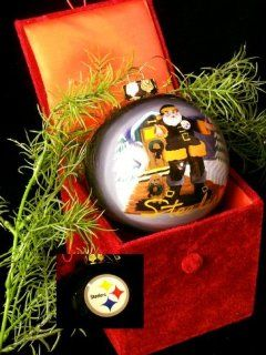 NFL Pittsburgh Steelers Glass Ball Christmas Tree Ornament