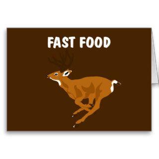 Funny Deer Fast Food Greeting Card