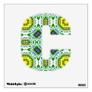 Alphabet and Numbers Shape C II Wall Decal