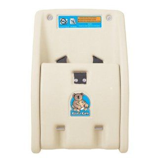 "Bobrick KB102 00 Koala Kare High Density Polyethylene Wall Mounted Child Protection Seat, Cream Finish, 12 1/4"" Width x 18 3/4"" Height Industrial Lavatory Baby Changing Stations"