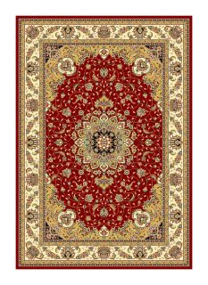 Lyndhurst Collection Red/ivory Oriental Rug (8 X 11)