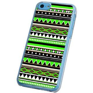 iphone 5C Vintage Green Aztec Ornate Tribal Fashion Trend Design Case/Back cover Metal and Hard Plastic Case Cell Phones & Accessories