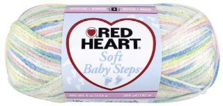 Red Heart E746.9930 Soft Baby Steps Yarn, Binky Print