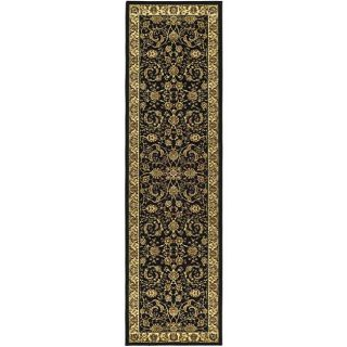 Lyndhurst Collection Black/ivory Runner Rug (23 X 6)