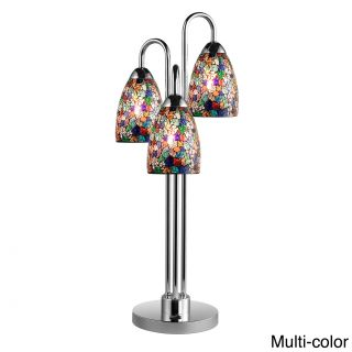 Venezia 3 light Mosaic Glass/ Chrome Table Lamp