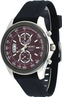 Mens Watch Seiko SNN263 Chronograph Chronograph Stainless Steel Case Rubber Stra Seiko Watches
