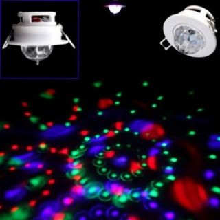 DODOCOOL 3W Full Color LED Voice activated Rotating RGB Ceiling Stage Light DJ Disco Lamp   Disco Ball Lamps