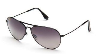 Maui Jim Mavericks Sunglasses GS264 02 Gloss Black (Neutral Gray Lens) 61mm  Sports & Outdoors