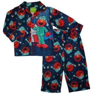 Sesame Street Elmo Toddler Pajama Set (4T, Navy) Clothing