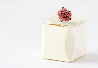wedding favour gift box small by taylor's truffles