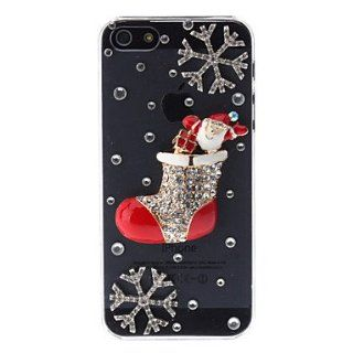 Rhinestone Style Sock Design Hard Case for iPhone 5/5S  Cell Phone Carrying Cases  Sports & Outdoors