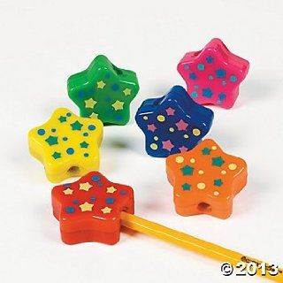 Star Shaped Pencil Sharpeners (12 Count)/Goody Bags/Pencil Box/Party Favors