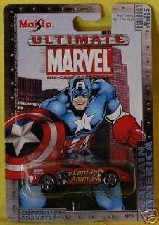 Ultimate Marvel 164 Scale Captain America Red Chevy Corvette Die Cast Car Maisto Toys & Games