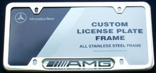 Genuine Mercedes Benz AMG Chrome License Plate Frame Automotive