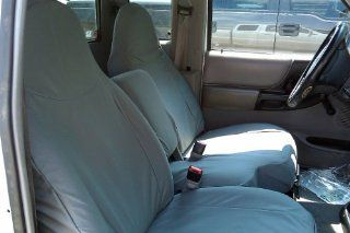 Exact Seat Covers, F282 X7, 1998 2001 Ford Ranger XLT Exact Fit Seat Covers, Gray Twill Automotive