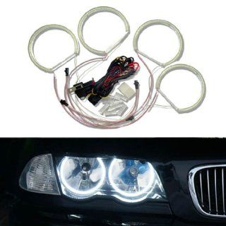 iJDMTOY 7000K Xenon White 284 SMD LED Angel Eyes Halo Ring Lighting Kit for BMW E46 3 Series Non HID Headlights version Automotive