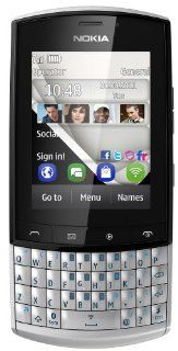 Nokia Asha 303 Silver WiFi Keyboard Unlocked QuadBand 3G Cell Phone Cell Phones & Accessories