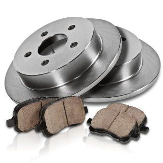 Callahan REAR Premium Grade OE 305 mm [2] Rotors + [4] Quiet Low Dust Ceramic Brake Pads Kit CK008537 Automotive