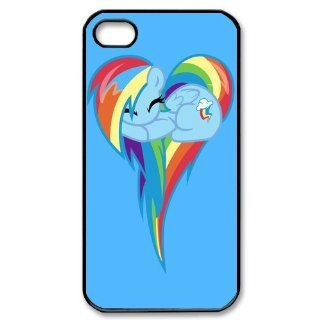 Custom Rainbow Dash Cover Case for iPhone 4 WX5681 Cell Phones & Accessories
