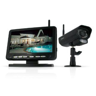 Defender PX301 010 Digital Wireless DVR Security System with 7 Inch LCD Monitor, SD Card Recording and Long Range Night Vision Camera (Black)  Complete Surveillance Systems  Camera & Photo