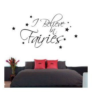 I believe in fairies quote wall art   Vinyl Sticker Wall Art Deco Decal Decoration   30cm Height*W Auto   Artwork