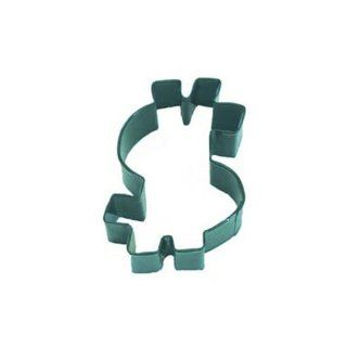 Dress My Cupcake DMC41CC0977/G Dollar Sign Cookie Cutter, 4 Inch, Green Kitchen & Dining