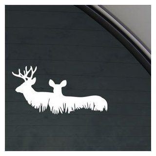 Whitetail Buck And Doe Standing Decal Car Sticker   Themed Classroom Displays And Decoration
