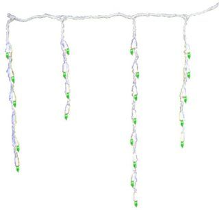 Nine Foot Long Green Icicle Lights With White Cords [92100G]  String Lights  Patio, Lawn & Garden