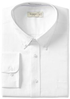 Haggar Men's Regular Fit Pinpoint Oxford Solid Long Sleeve Dress Shirt at  Men�s Clothing store