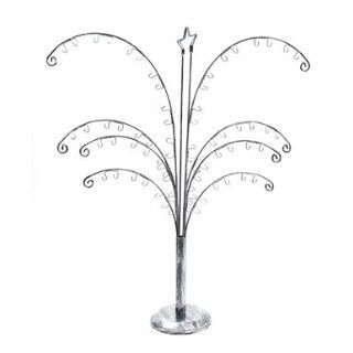 Palm Tree Jewelry Earring Display Stand Rack Silver Clothing