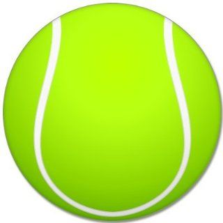 "Tennis sport ball car bumper sticker 4"" x 4"" Automotive"
