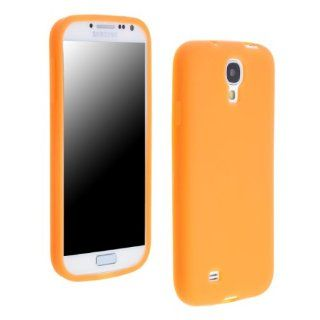 niceeshop(TM) Orange Silicone Soft Skin Gel Case Cover for Samsung Galaxy SIV S4 i9500 + Screen Protector Cell Phones & Accessories