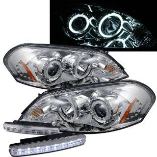 2006 2007 Chevy Monte Carlo Ccfl Halo Projector Headlights + 8 Led Fog Bumper Light Automotive