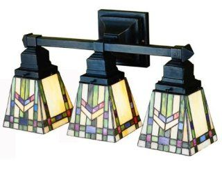 Prairie Wheat Mission Tiffany Stained Glass Bathroom Lighting Vanity Fixture 20 Inches W