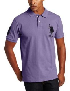 U.S. Polo Assn. Men's Solid Short Sleeve Pique Polo at  Men�s Clothing store Polo Shirts