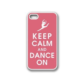 CellPowerCasesTM Keep Calm Dance On iPhone 4 Case White   Fits iPhone 4 & iPhone 4S Cell Phones & Accessories