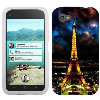 HTC First Night Time Paris Eiffel Tower Hard Case Phone Cover Cell Phones & Accessories