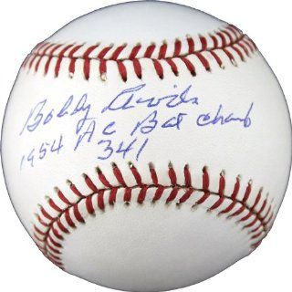 Bobby Avila Signed Autographed AL Baseball Inscribed 1954 AL Bat Champ 341 Sports Collectibles