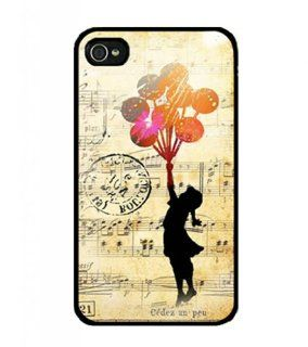 Wewe Banksy Balloon Girl2 Iphone 4 4s Case Cover, Cell Phone Hard Case with Unique Design Cell Phones & Accessories