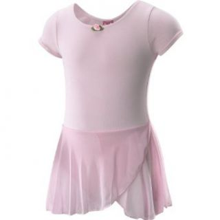 FUTURE STAR Capezio Girls' Short Sleeve Dance Dress   Size Medium, Pink Clothing