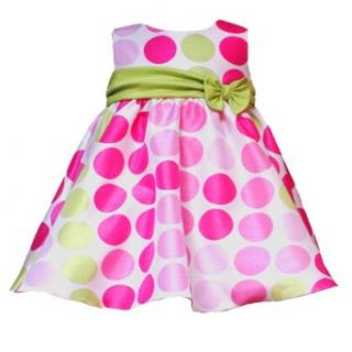 Rare Editions Baby 3M 9M 2 Piece FUCHSIA PINK LIME GREEN SHANTUNG DOT Special Occasion Wedding Flower Girl Party Dress 9M RRE 33850E E633850 Clothing