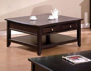 Square Cocktail Table in Cappuccino Finish by Furniture of America   Dining Tables
