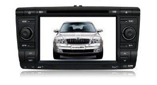 Eagle for 2008 2012 Skoda Octavia Car GPS Navigation DVD Player Audio Video System with Radio (AM/FM), Bluetooth Hands Free, USB, AUX Input, (free Map), Plug & Play Installation  In Dash Vehicle Gps Units  GPS & Navigation