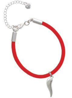 Good Luck Italian Horn Charm on a Scarlett Red Malibu Charm Bracelet [Jewelry] Jewelry