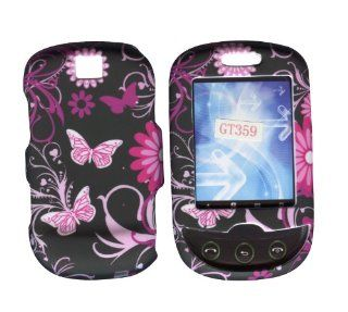 Pink Butterflies Samsung Smiley T359 T Mobile Case Cover Hard Phone Cover Case Faceplates Cell Phones & Accessories