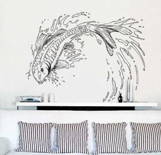 Vinyl Wall Decal Sticker Koi Fish Jumping Out of Pond #367   Other Products