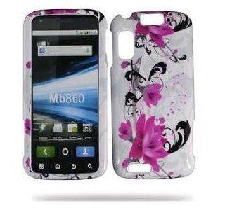 Motorola atrix 4G MB860 Designer HARD PROTECTOR COVER CASE SNAP ON PERFECT FIT   Purple Lily Cell Phones & Accessories