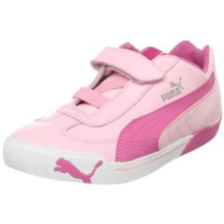 PUMA Speed Cat 2.9 Lo Hook And Loop Fashion Sneaker (Toddler/Little Kid),Almond Blossom Pink/Shocking Pink,5 M US Toddler Shoes